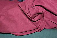 №308. Бенгалин, на Флисе, Темная вишня. осень -растяжение по долевой! джинсовое плетение нити, фото 1