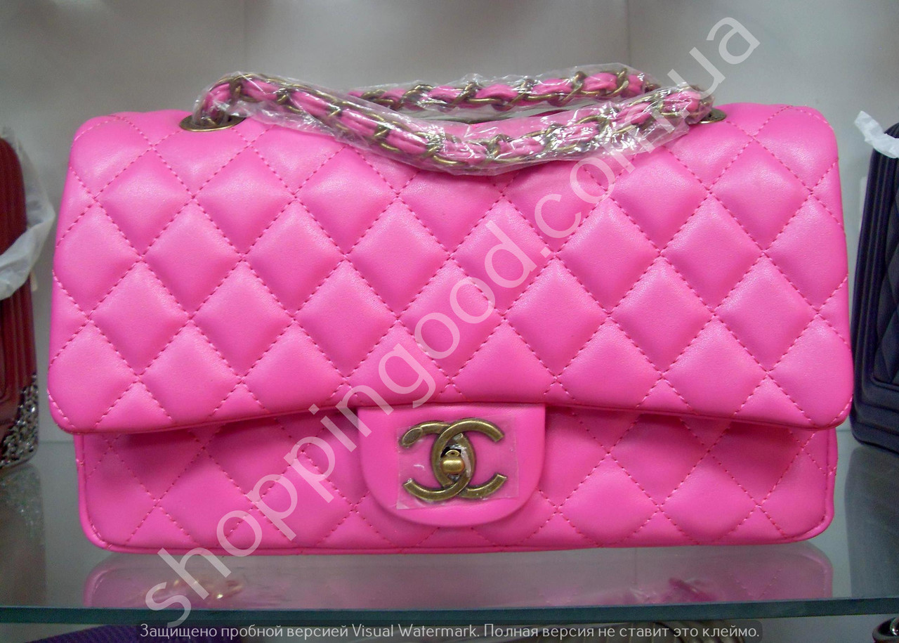 Женская сумка клатч Chanel Boy (Шанель Бой) 1188 розовая с бронзовой  фурнитурой 17c0d2e436a
