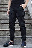 """Мужские брюки карго черные ТУР """"Cargo Classic"""""""