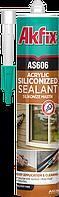 Акриловый герметик прозрачный AKFIX AS606 310 мл