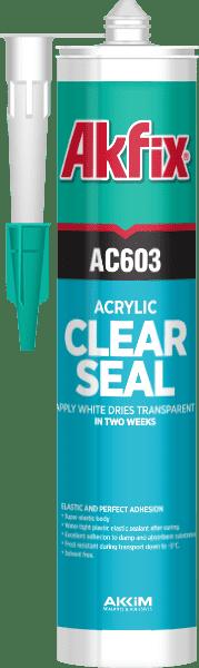 Акриловый герметик прозрачный AKFIX AC603 310 мл