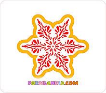Трафарет + формочка-вырубка для пряников Снежинка №46