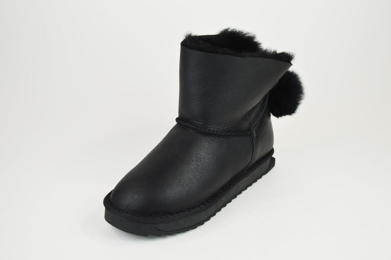 Угги черные кожаные Prima 2608