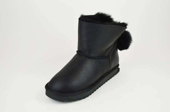 Угги черные кожаные Prima 2608, фото 2