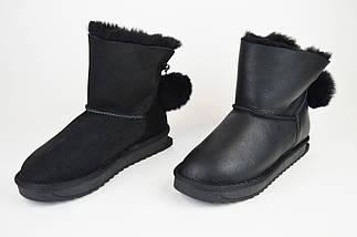 Угги черные кожаные Prima 2608, фото 3