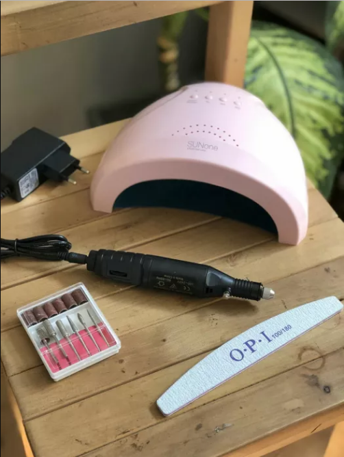 Акция!Стартовый набор для маникюра фрезер ручка +Лампа Sun One 48 Вт