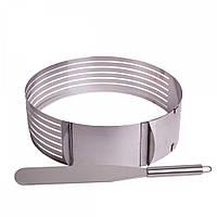 Форма для бисквита с ножом отверстием для нарезки KamilleKM-7789 24,5-30 см нержавеющая сталь