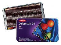 Набор цветных карандашей Coloursoft, 36шт., мет. коробка, Derwent