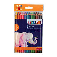 Набор толстых цветных карандашей Lakeland JAMBO 9.8мм в блист.12цв., Derwent
