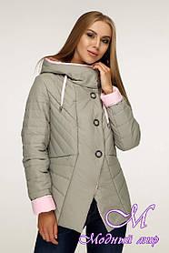 Модна жіноча куртка великого розміру (р. 44-54) арт. 1196 Тон 59