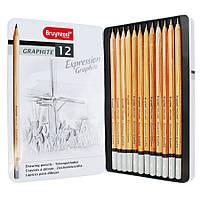 Набор графитных карндашей Cleos, 12шт., мет. упаковка, Cretacolor