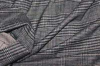 Ткань трикотаж осенний, плотный,  стрейч, клетка темная пог. м. № 138, фото 1