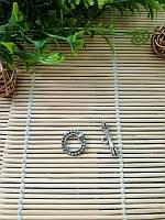 Застежка тогл, серебро, 18 мм