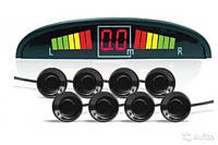 Парктроник автомобильный на 8 датчиков 22мм + LCD монитор Black универсальный