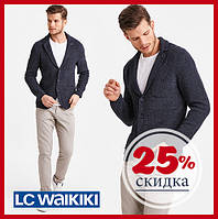 Синий мужской пиджак LC Waikiki / ЛС Вайкики с 3-мя накладными карманами, на пуговицах S
