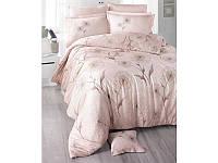 Комплект постельного белья Двуспальный Евро Сатин 200х220 Clasy Одуванчик беж