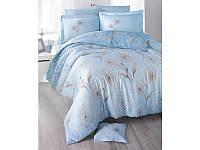Комплект постельного белья Двуспальный Евро Сатин 200х220 Clasy Одуванчик синий