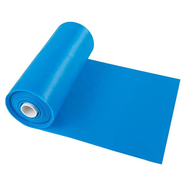 Лента эластичная для фитнеса, йоги, TPE, 5,5м*150*0,45мм, синий.