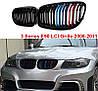 Решетка радиатора ноздри BMW E90 рестайл стиль M3 (черный глянц + колор), фото 2