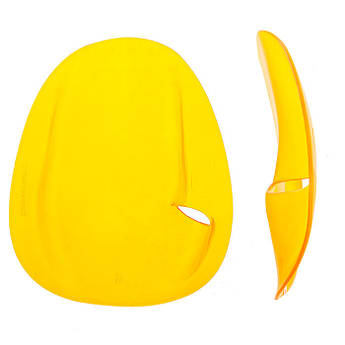 Лопатки для плавання 5872, жовті, S