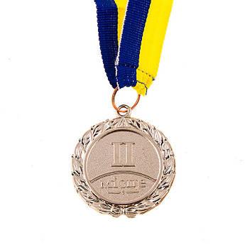 Нагородна Медаль з стрічкою d=45 мм, срібло.