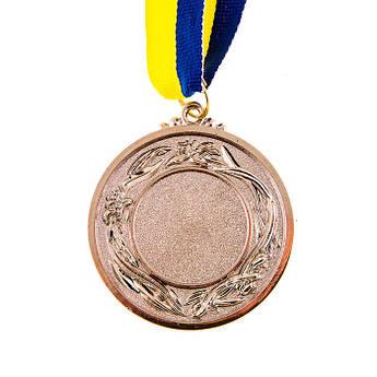 Нагородна Медаль з стрічкою d=53 мм,срібло.