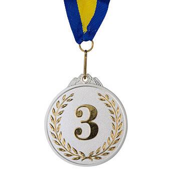 Нагородна Медаль, d=65 мм, 3-е місце, двоколірна.