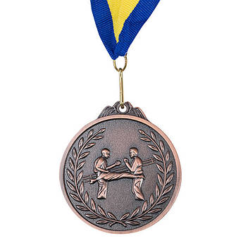 Нагородна Медаль, d=65 мм, бронза, карате