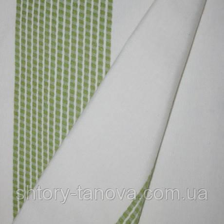 Декор кифи полоса молочный/зеленый