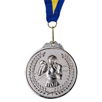 Нагородна Медаль, d=65 мм, срібло, бокс.