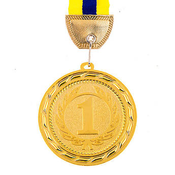 Медаль наградная, d=70 мм, золото