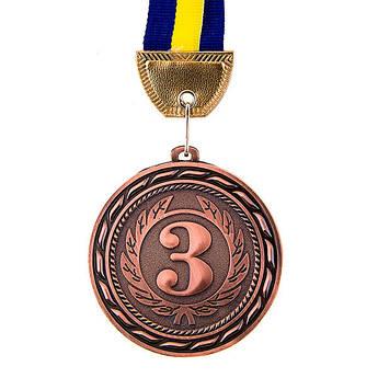 Нагородна Медаль, d=70 мм, бронза.