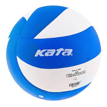 Мяч волейбольный Kata 200 PU blue/white. №5.