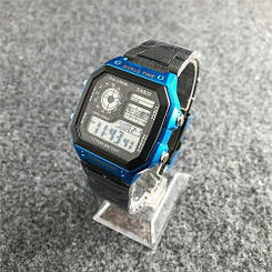 🔲 Casio AE-1200 Black-Blue 1006-1420  Электронный Casio