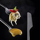 Туристические столовые предметы из титана Naturehike 3в1 (ложка, вилка, нож) Титановая посуда, фото 8