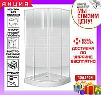 Полукруглая душевая кабинка 90x90 см Eger Tisza Frizek 599-021-A с поддоном