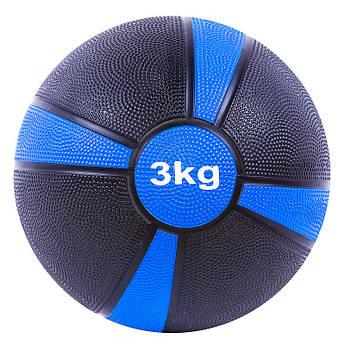Мяч медбол 3кг (4/4), d=22 см, 87273-3