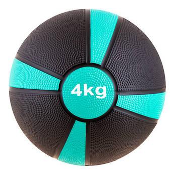 Мяч медбол 4кг (4/4), d=22см,  87273-4