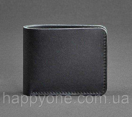 Кожаное мужское портмоне 4.1 (кожа krast) черное