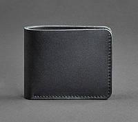 Кожаное мужское портмоне 4.1 (кожа krast) черное, фото 1