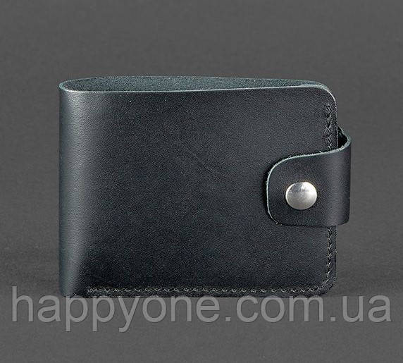 Кожаное портмоне 4.3 (кожа krast) черное