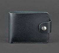 Кожаное портмоне 4.3 (кожа krast) черное, фото 1