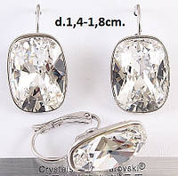 Шикарные Серьги Xuping с кристаллами Swarovski в серебре SJ043