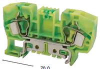 Клемма заземления пружинная YBK 10 T