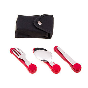 Набор туристический: вилка,ложка,нож, HX-6
