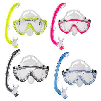 Набор: для плаванья маска,трубка Dolvor М171P+SN59P.