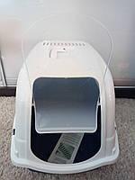 Туалет-бокс для котів з фільтром  ROMEO, 57 * 39 * 41 см,  синій, Bergamo