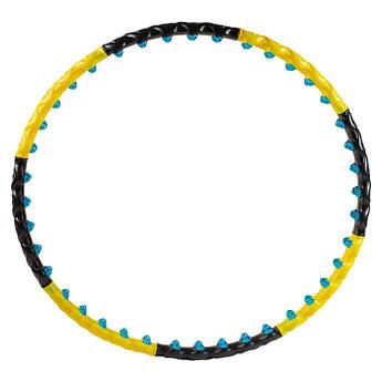 Обруч разборной 3005, 2ряда магнитных шариков, желто/черный.