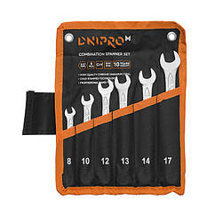Набор ключей рожково-накидных Dnipro-M (6 шт.) (8, 10, 12, 13, 14, 17 мм)