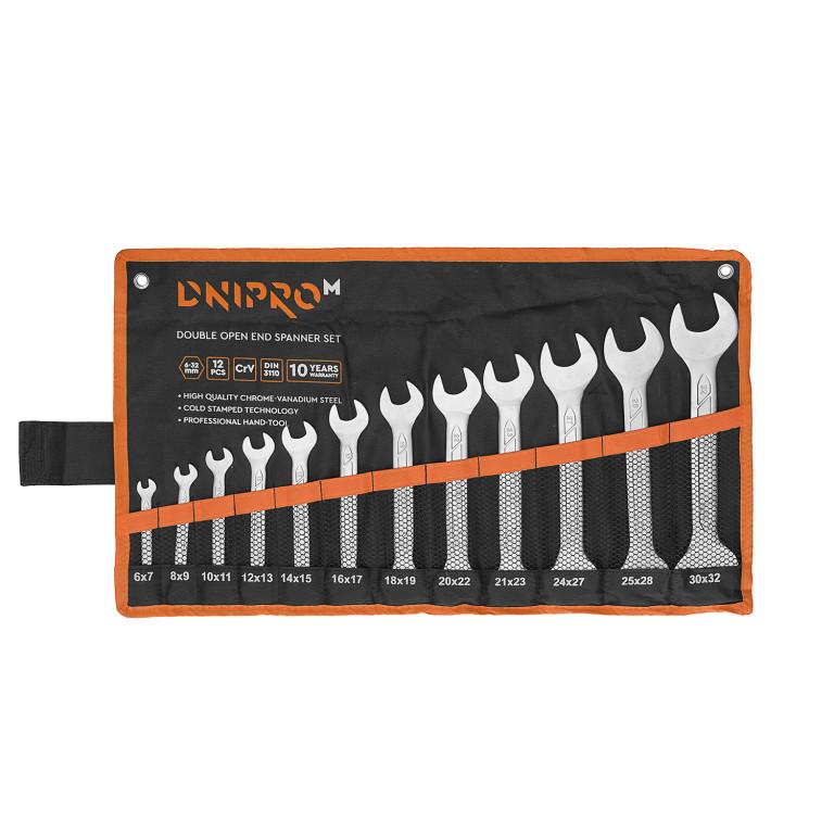 Набор ключей рожковых Dnipro-M (12 шт.)